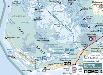 Everglades map camps sites