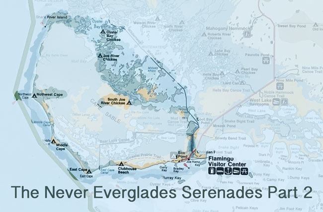Everglades map for canoe